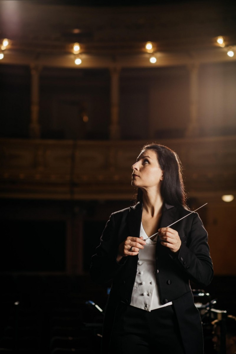 Živa Ploj Peršuh, dirigentka in ambasadorka vrhunske mobilnosti.